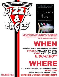 Pizza & Pages - Teen Zone @ Joe A. Guerra Laredo Public Library - Teen Zone