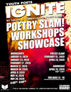 Youth Poets Ignite - Poetry Slam! @ Joe A. Guerra Laredo Public Library - Teen Zone