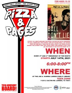TEENS : Pizza and Pages