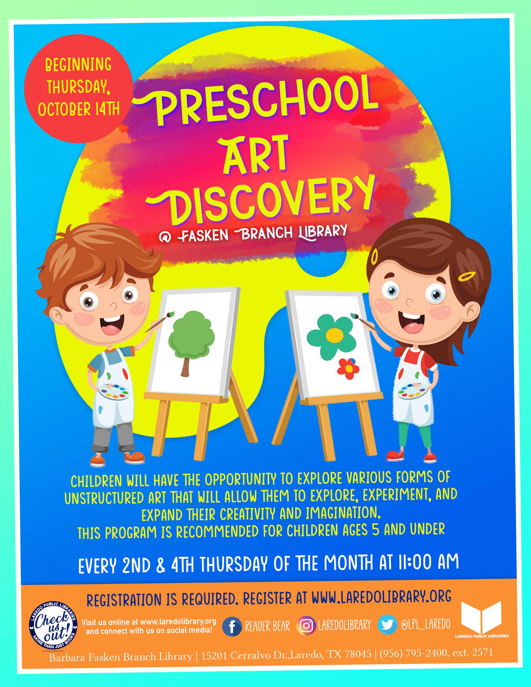 Preschool Art Discovery