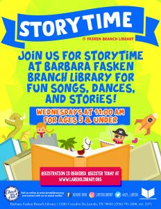 Storytime at Fasken Branch Library!
