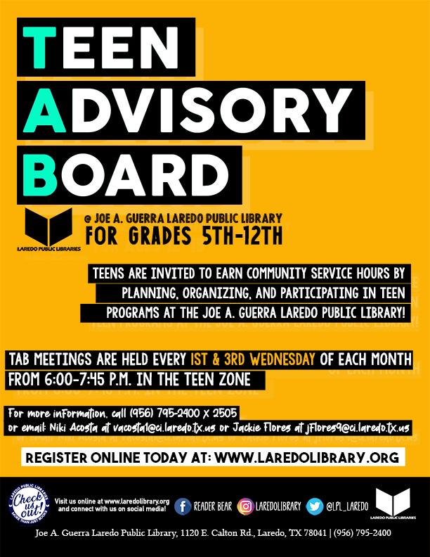 Teen Advisory Board – Official Meeting