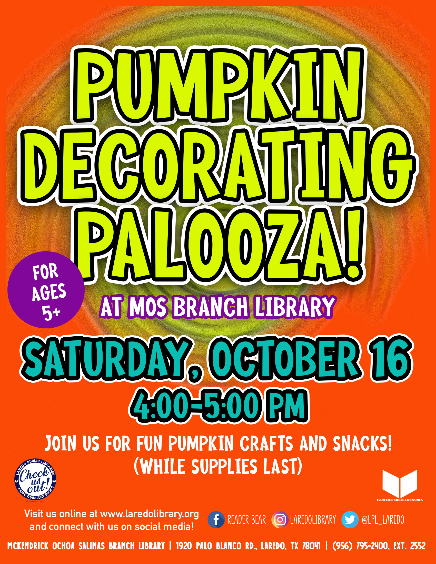 Pumpkin Decorating Palooza!